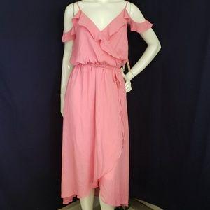 ⬇️$55 GB cherry blossom cold shoulder wrap dress